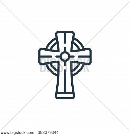 cross icon isolated on white background from st patricks day collection. cross icon trendy and moder