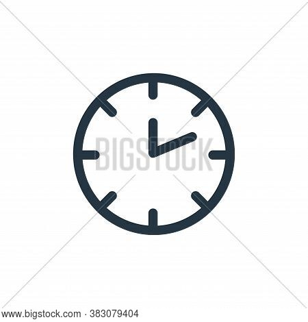 clock time icon isolated on white background from miscellaneous collection. clock time icon trendy a
