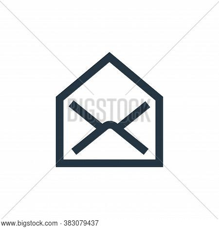open mail icon isolated on white background from interaction collection. open mail icon trendy and m