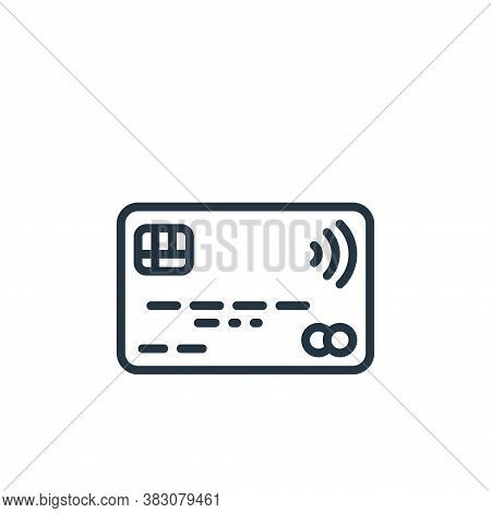 contactless icon isolated on white background from internet of things collection. contactless icon t