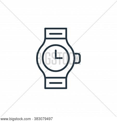 watch icon isolated on white background from jewelry collection. watch icon trendy and modern watch