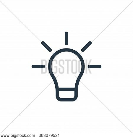 light bulb icon isolated on white background from web collection. light bulb icon trendy and modern