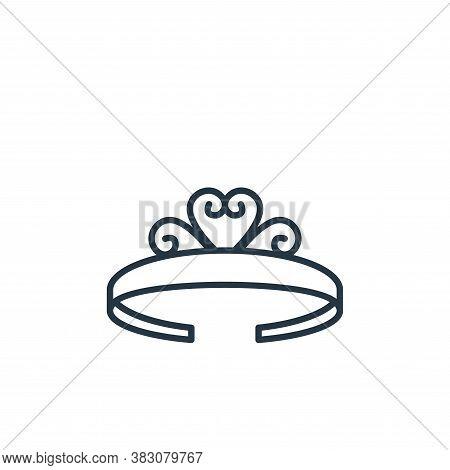tiara icon isolated on white background from jewelry collection. tiara icon trendy and modern tiara