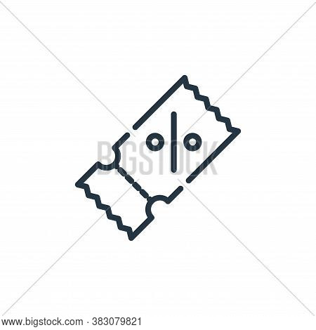 coupon icon isolated on white background from cyber monday collection. coupon icon trendy and modern