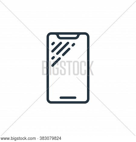 cell phone icon isolated on white background from internet of things collection. cell phone icon tre
