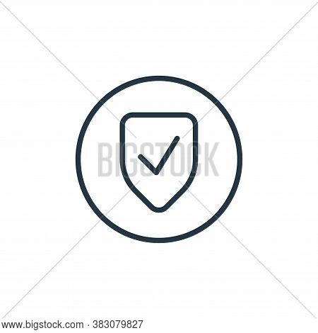 verification icon isolated on white background from online learning collection. verification icon tr
