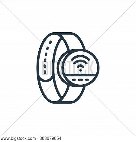smart watch icon isolated on white background from internet of things collection. smart watch icon t