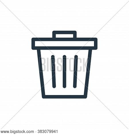 trash icon isolated on white background from business and office collection. trash icon trendy and m