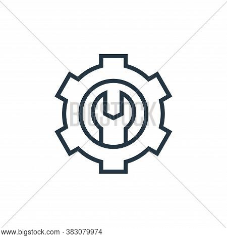 maintenance icon isolated on white background from business marketing collection. maintenance icon t