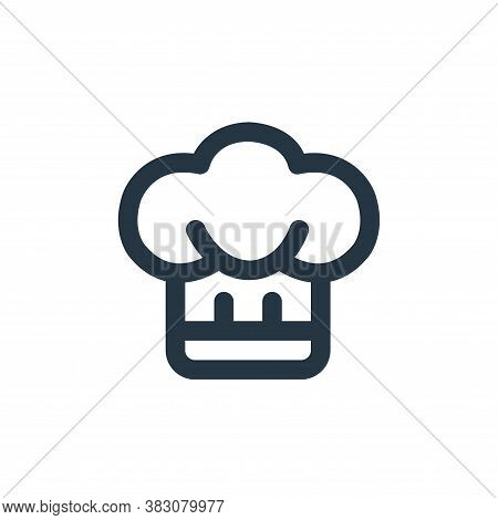 chef hat icon isolated on white background from restaurant collection. chef hat icon trendy and mode