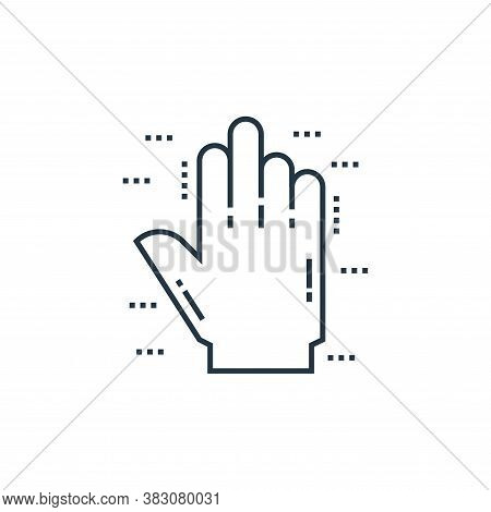 hand icon isolated on white background from cells organs and medical cannabis collection. hand icon