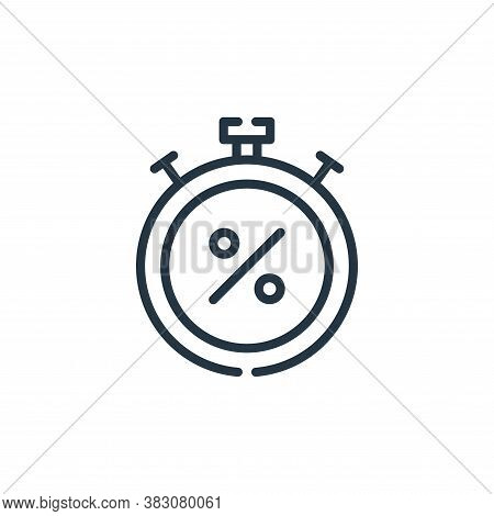 stopwatch icon isolated on white background from cyber monday collection. stopwatch icon trendy and