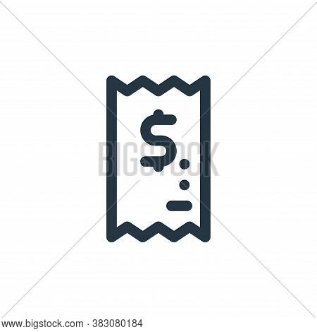 bill icon isolated on white background from fintech collection. bill icon trendy and modern bill sym