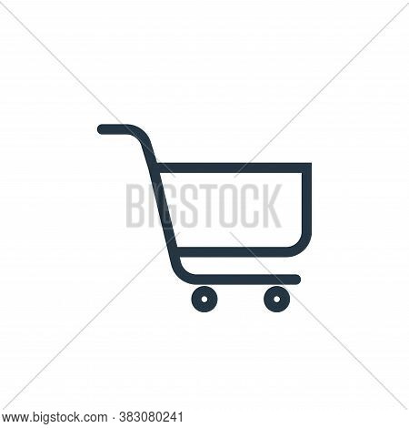 cart icon isolated on white background from web collection. cart icon trendy and modern cart symbol