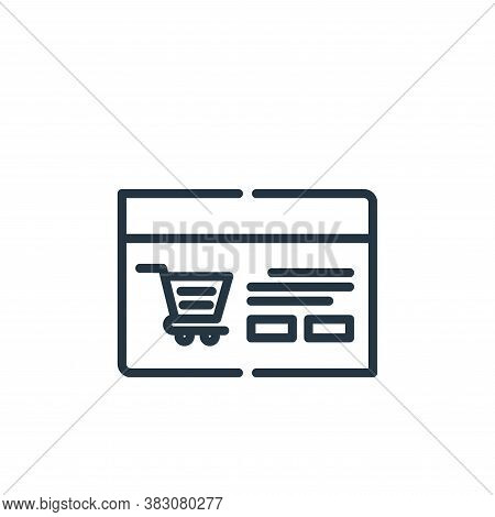 website icon isolated on white background from cyber monday collection. website icon trendy and mode