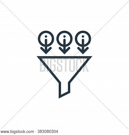 filter icon isolated on white background from business marketing collection. filter icon trendy and