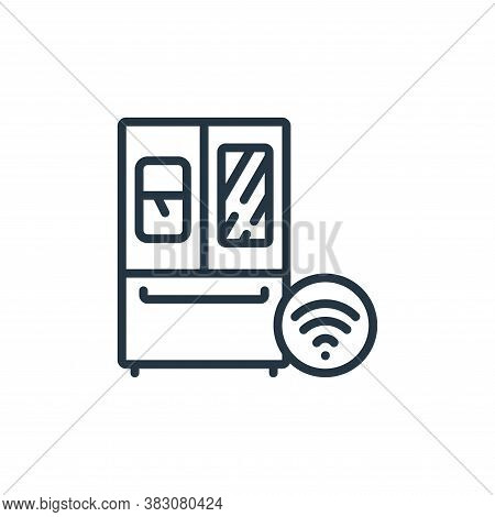 smart fridge icon isolated on white background from internet of things collection. smart fridge icon