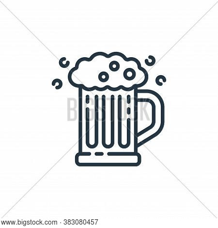 beer mug icon isolated on white background from st patricks day collection. beer mug icon trendy and
