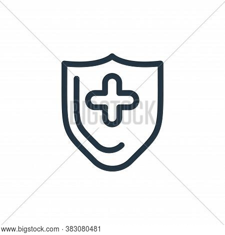 shield icon isolated on white background from protection collection. shield icon trendy and modern s