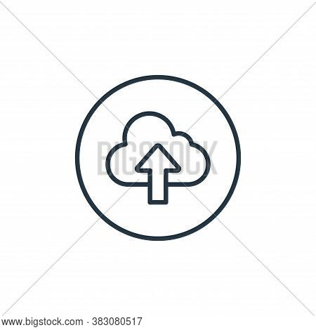 upload icon isolated on white background from general collection. upload icon trendy and modern uplo