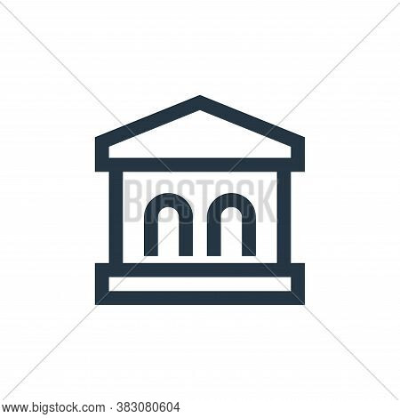 bank icon isolated on white background from property collection. bank icon trendy and modern bank sy