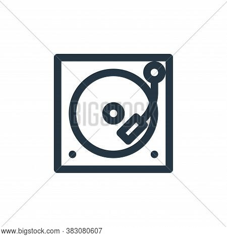 vinyl player icon isolated on white background from vintage collection. vinyl player icon trendy and