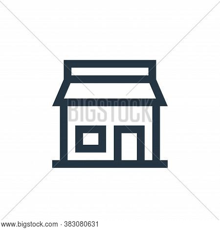store icon isolated on white background from property collection. store icon trendy and modern store