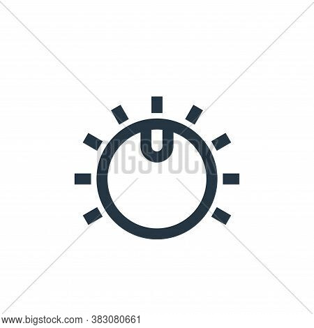 knob icon isolated on white background from music collection. knob icon trendy and modern knob symbo