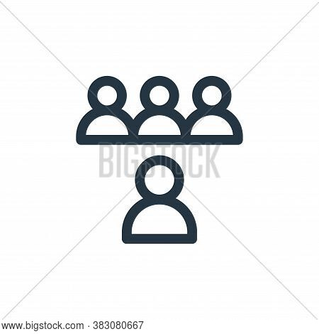 team icon isolated on white background from business administration collection. team icon trendy and