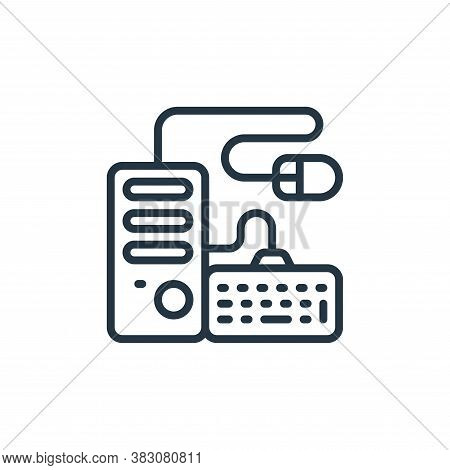 pc tower icon isolated on white background from internet of things collection. pc tower icon trendy
