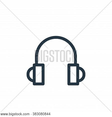 headset icon isolated on white background from ui collection. headset icon trendy and modern headset