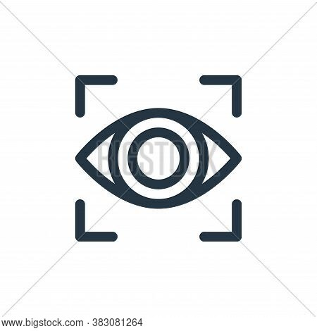 vision icon isolated on white background from business administration collection. vision icon trendy