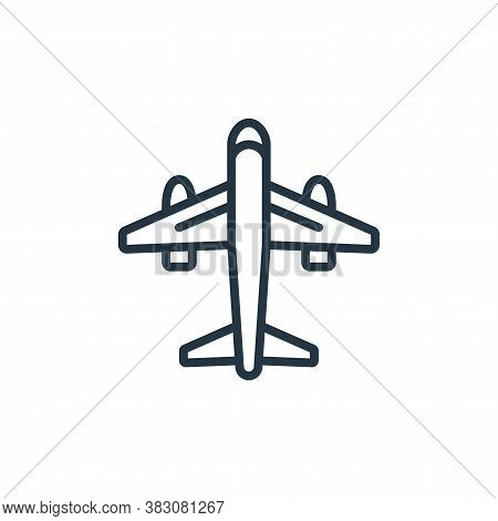airplane icon isolated on white background from internet of things collection. airplane icon trendy