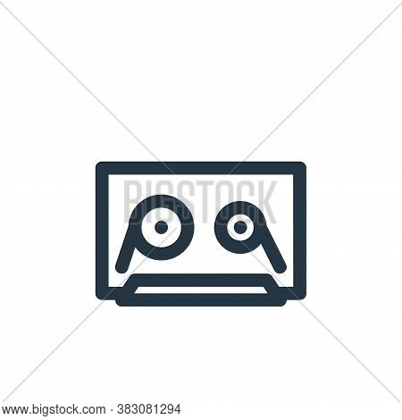 cassette icon isolated on white background from vintage collection. cassette icon trendy and modern