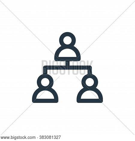 hierarchy icon isolated on white background from business administration collection. hierarchy icon