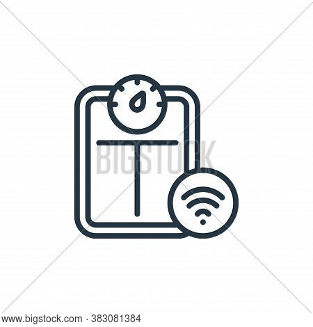 smart scale icon isolated on white background from internet of things collection. smart scale icon t