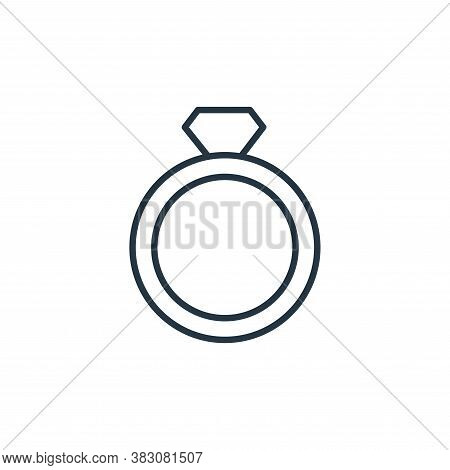 diamond ring icon isolated on white background from jewelry collection. diamond ring icon trendy and