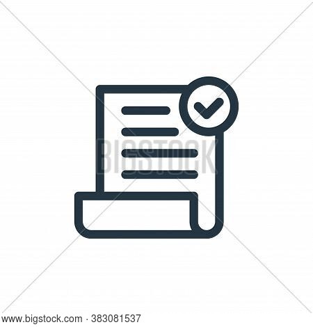 check icon isolated on white background from business and office collection. check icon trendy and m
