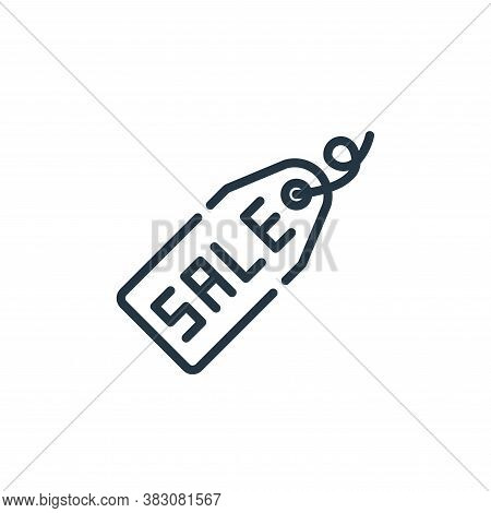 sale tag icon isolated on white background from cyber monday collection. sale tag icon trendy and mo