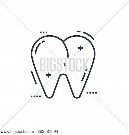 tooth icon isolated on white background from cells organs and medical cannabis collection. tooth ico
