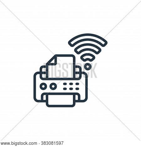 printer icon isolated on white background from internet of things collection. printer icon trendy an