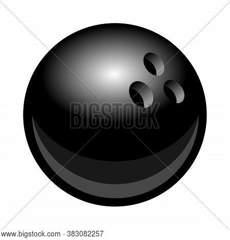 Vector Billiards Snooker Pool 8ball Silhouette Illustration Isolated On White Background. Ideal For