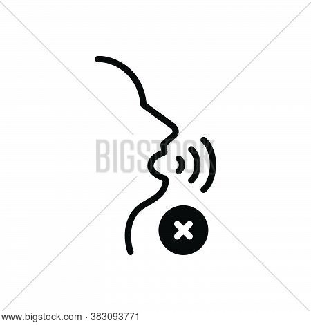 Black Solid Icon For Quietly Silently Noiselessly Dumb Silent Mute Soundless Tacitly Hush Gesture Ca