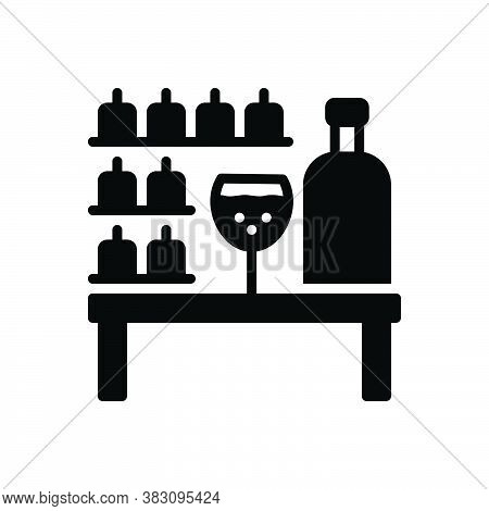 Black Solid Icon For Bar Tavern Pub Counter Public-drinking-house Bout Restaurant Drink Table Glass