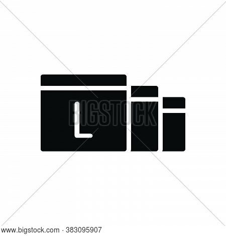 Black Solid Icon For Largely Large Scale Extent Mostly Mainly Chiefly Generally Extensively Copiousl