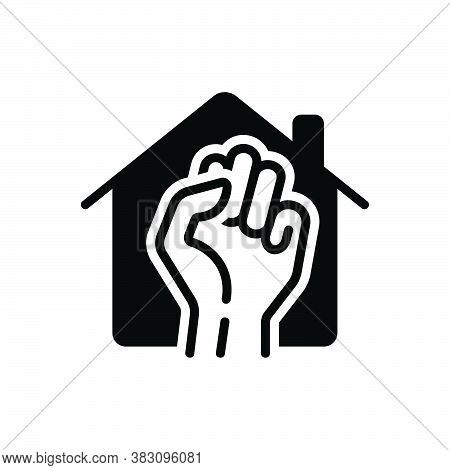 Black Solid Icon For Occupy Take Acquire Seize-on Clutch Monopolize Rent-house House