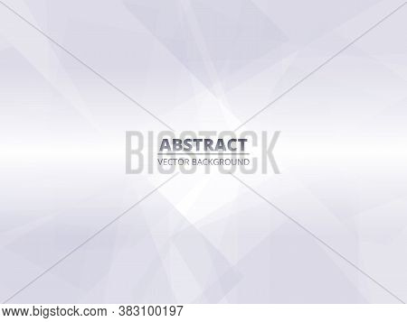 Abstract White Silver Modern Geometric Background With Translucent Elements. Conceptual Design Illus