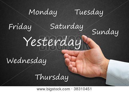 Daily Written On Blackboard