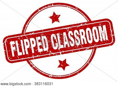 Flipped Classroom Stamp. Flipped Classroom Round Vintage Grunge Sign.