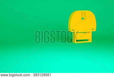 Orange Kosovorotka Is A Traditional Russian Shirt Icon Isolated On Green Background. Traditional Nat